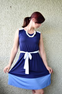 Outfit_Kleid_Zalando_Fashion_Outfitpost_Fashionblogger_blaues Kleid_2