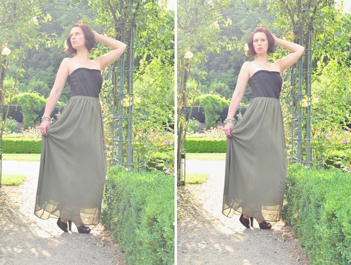 Outfit_Orsay_Gina Tricot_Maxirock_Fashionblog_Annanikabu_Collage