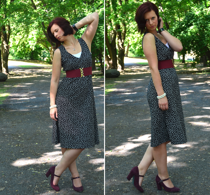 Outfit_Kleid_Peter Hahn_Pünktchenkleid_Kleid mit Punkten_Kleid von Peter Hahn_Fashion_Fashionblogger_Annanikabu_Bloggerin aus Berlin_Collage