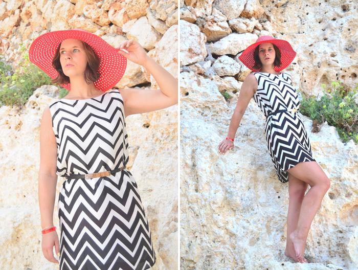 Malle Look_Mallorca_Outfit_Look_Fashion_Kleid_gdm_Hut_Sommer_Urlaub_Annanikabu_Collage