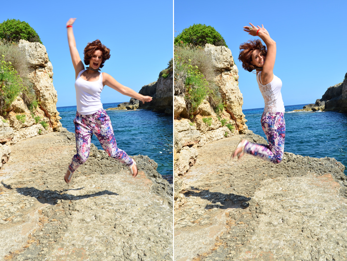 Malle_Outfit_Mallorca_Urlaub_Urlaubs Outfit_Fashion_Takko_Blumenhose_Musterhose_Annanikabu_Collage
