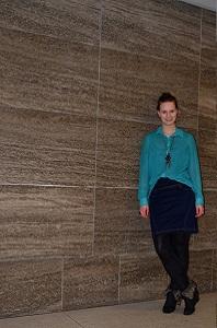 Outfit_Brandenburgertor_Brandenburger Tor_ Touri_Fashion_grüne Bluse_Jeansrock_2