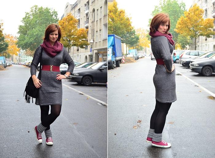 Outfit_Lederjacke_TKmaxx_Orsay_Kleid_Glitzerkleid_Kleid von Orsay_Chucks_Converse_Fashion_Outfitpost_Annanikabu_3