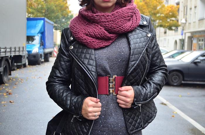 Outfit_Lederjacke_TKmaxx_Orsay_Kleid_Glitzerkleid_Kleid von Orsay_Chucks_Converse_Fashion_Outfitpost_Annanikabu_4