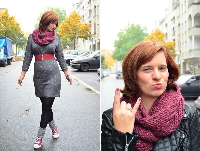 Outfit_Lederjacke_TKmaxx_Orsay_Kleid_Glitzerkleid_Kleid von Orsay_Chucks_Converse_Fashion_Outfitpost_Annanikabu_5