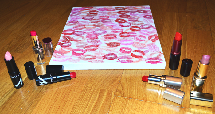 DIY_do it yourself_Leinwand_Küsse_Lippenstift_1