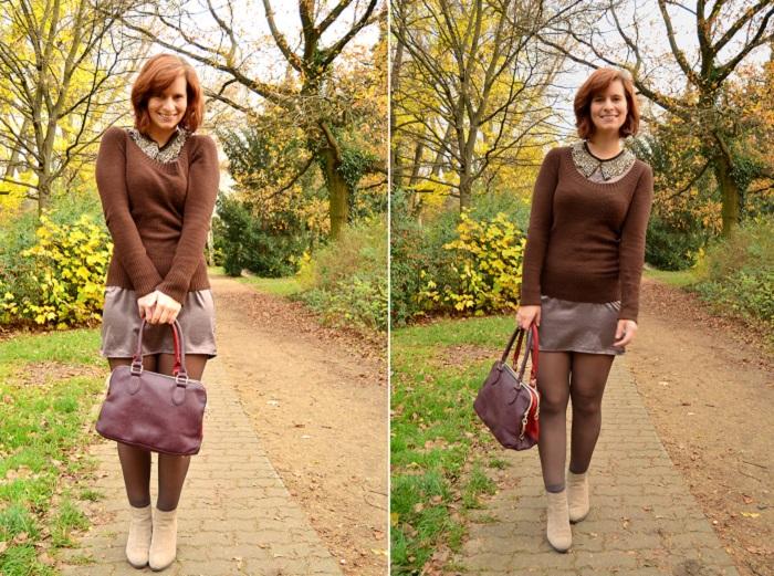 Herbstoutfit_Fashion_Abendkleid im Alltag_schickes Kleid_Kleid mit Kette_schickes Outfit_Outfit für Herbst_Herbstfarben_Annanikabu_2