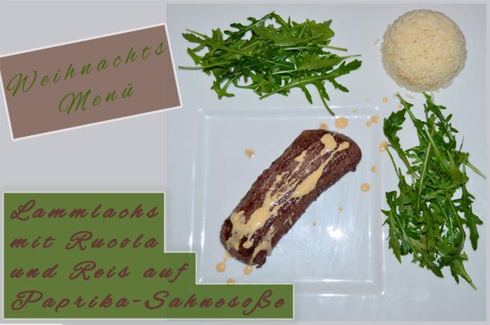 Weihnachtsessen_Lammlachs_leckeres Essen_Essen für Weihnachten_Food_Rucola_Rucolasalat_2