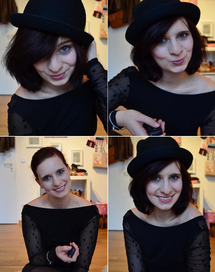 Fashionblogger sind dumm_Fashionblogger sind selbstverliebt_Fashionblogger_Selfie_Selbstportrait_selbstverliebte Bloggerin_Annanikabu_Hut_schwarze Haare_Collage