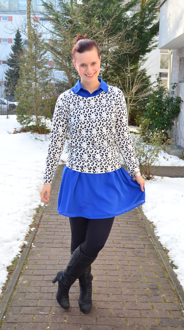 Outfit_Outfitpost_blaues Kleid_Leopulli_Mango_Pullover von Mango_Blog_Fashionblog_Annanikabu_2