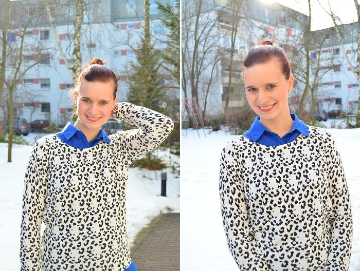 Outfit_Outfitpost_blaues Kleid_Leopulli_Mango_Pullover von Mango_Blog_Fashionblog_Annanikabu_Portrait_Collage