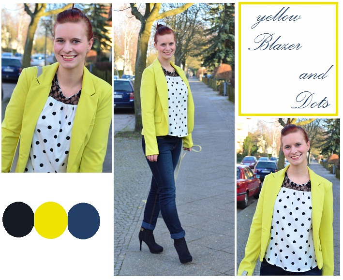 Yellow Blazer and Dots [Outfit]