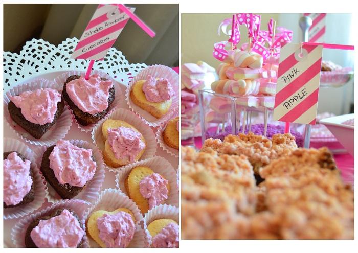 Pink Party_Geburtstag_Geburtstagsfeier_Cupcakes_Apfelkuchen_Apple Pie_pinker Kuchen_Kuchen_Collage_1