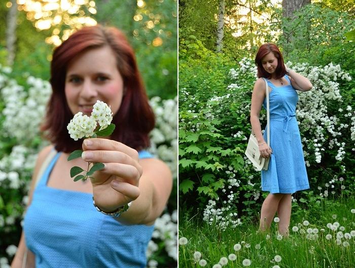 Outfit_Blumenmädchen_Blumenkind_süßes Kleid_Whos that girl_Bench_Bench Tasche_süßes Kleid_Kleid von Whos that girl_Outfitpost_Annanikabu_Collage