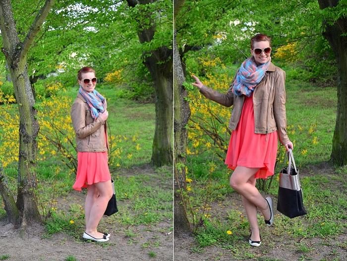 Outfit_Kleid_Lederjacke_Lederjacke von Tchibo_Kleid mit Lederjacke_Frühlingsoutift_Outfitpost mit Kleid_Annanikabu_Collage