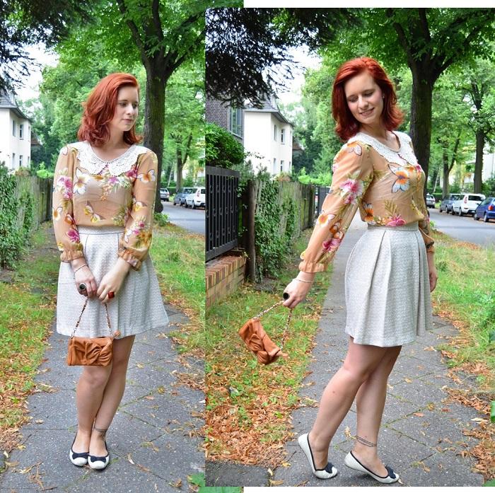 Annanikabu_Studio Wandel_Schmetterling_Schmetterlingsbluse_Bluse mit Schmetterlingen_Shirt mit Schmetterlingen_Schmetterlinge_süßes Outfit_Glitzerrock_Mango_Rock von Mango_Berlin_Collage_1