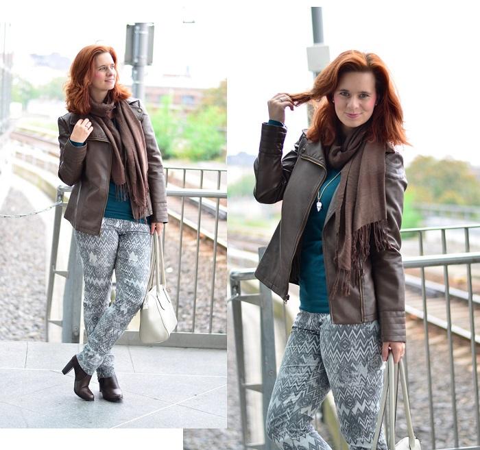 Outfit-Musterhose-Herbst-Herbstfarben-Herbstoutfit-Musterhose kombinieren-Lederjacke-braune Lederjacke-Annanikabu-Berlin-Collage-1