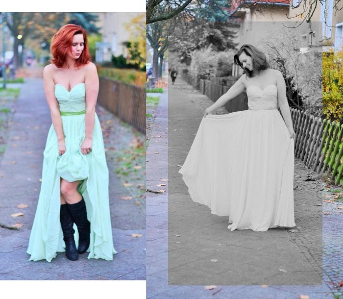 Abendkleid, schickes kleid, grünes kleid, abedrobe, ballkleid, annanikabu, collage 2