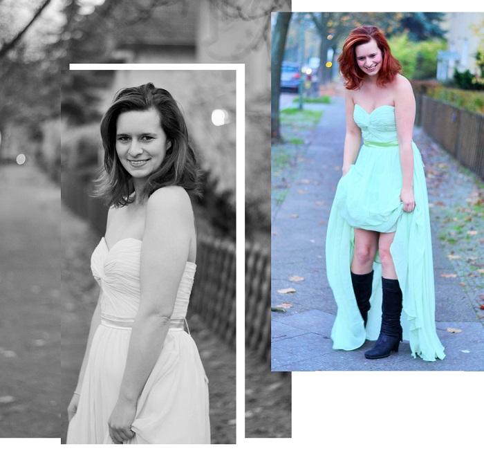 Abendkleid, schickes kleid, grünes kleid, abedrobe, ballkleid, annanikabu, collage 4
