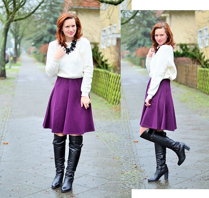 Kisura_Kisura Outfit_Weihnachtsoutfit_Outfit für Weihnachten_Rock für Weihnachten_Outfitpost Weihnachten_Annanikabu_Overknees_Midirock_Collage_1