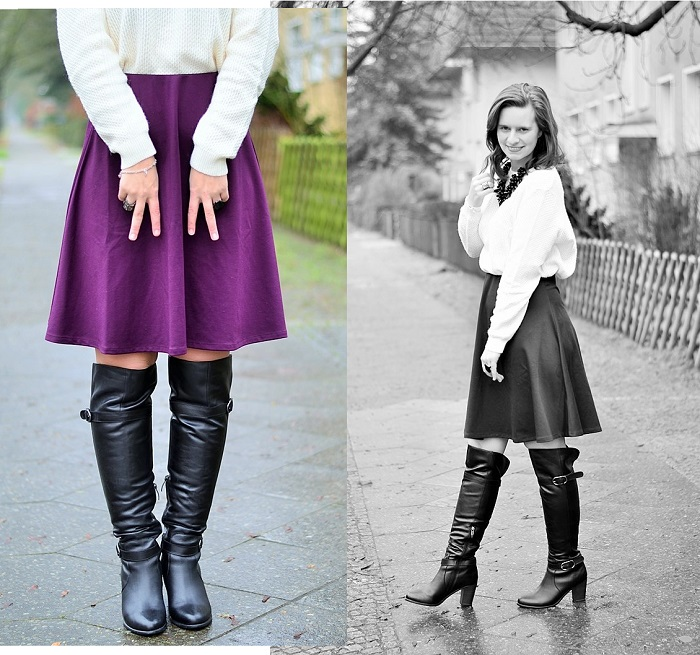 Kisura_Kisura Outfit_Weihnachtsoutfit_Outfit für Weihnachten_Rock für Weihnachten_Outfitpost Weihnachten_Annanikabu_Overknees_Midirock_Collage_2