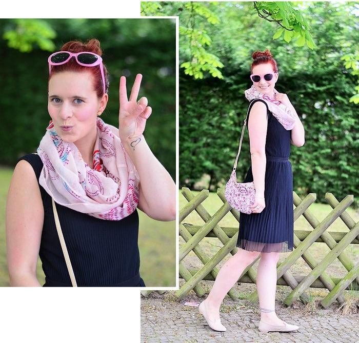 Fashion Challenge_ein Teil 3 Looks_1 Teil 3 Looks_ein Teil viel Stil_Fashion_Annanikabu_pinke Sonnenbrille