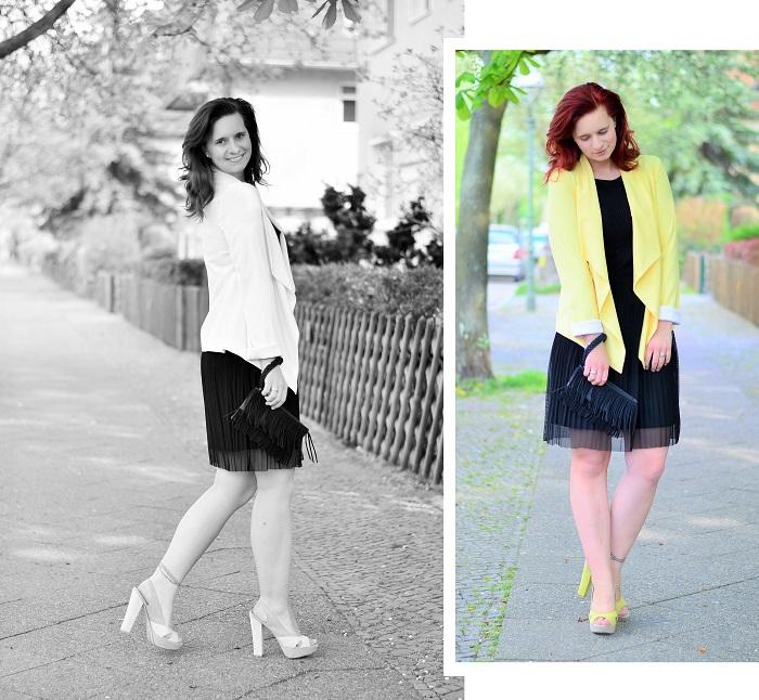 das kleine Schwarze_black dress_gelber Blazer_Blazer von New Look_New Look_Kleid von Esprit_gelb-schwarzes Outfit_Annanikabu_3