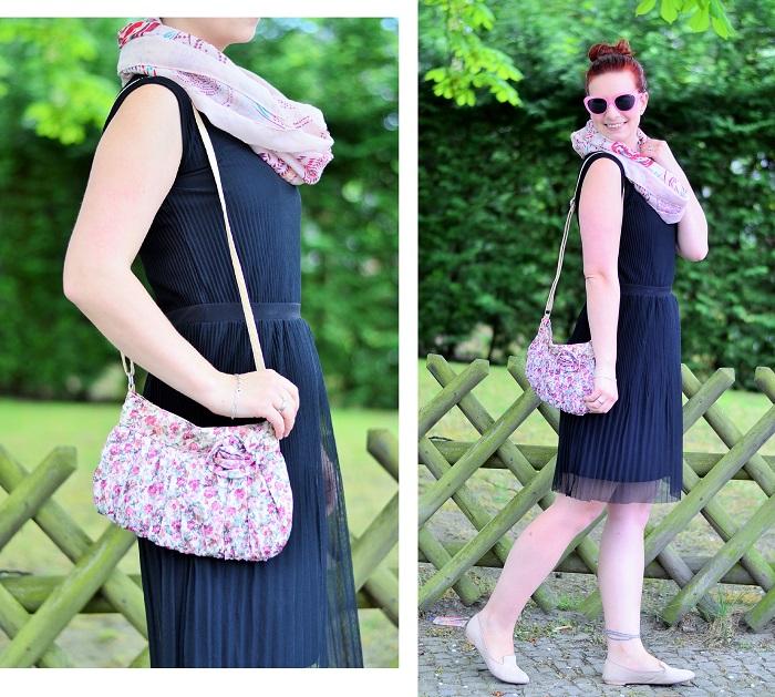kleines schwarzes_schwarzes kleid_schwarz und rosa_schwarzes kleid kombinieren_frühlingsoutfit_Outfit für Frühling_Kleid von Esprit_Annanikabu_2