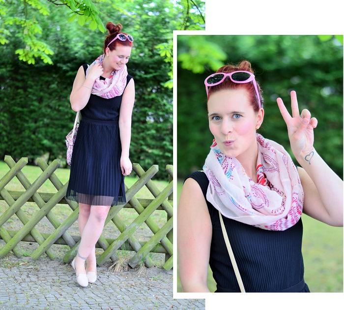 kleines schwarzes_schwarzes kleid_schwarz und rosa_schwarzes kleid kombinieren_frühlingsoutfit_Outfit für Frühling_Kleid von Esprit_Annanikabu_3