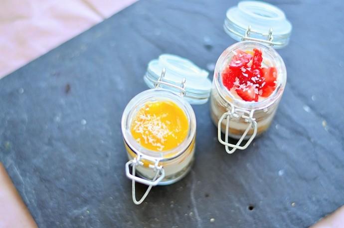 Erdbeer Schichtspeise_Mango Schichtspeise_Mango Dessert_Mango Nachtisch_Mango Quark_Mango Rezept_leckerer Nachtisch mit Mango_1